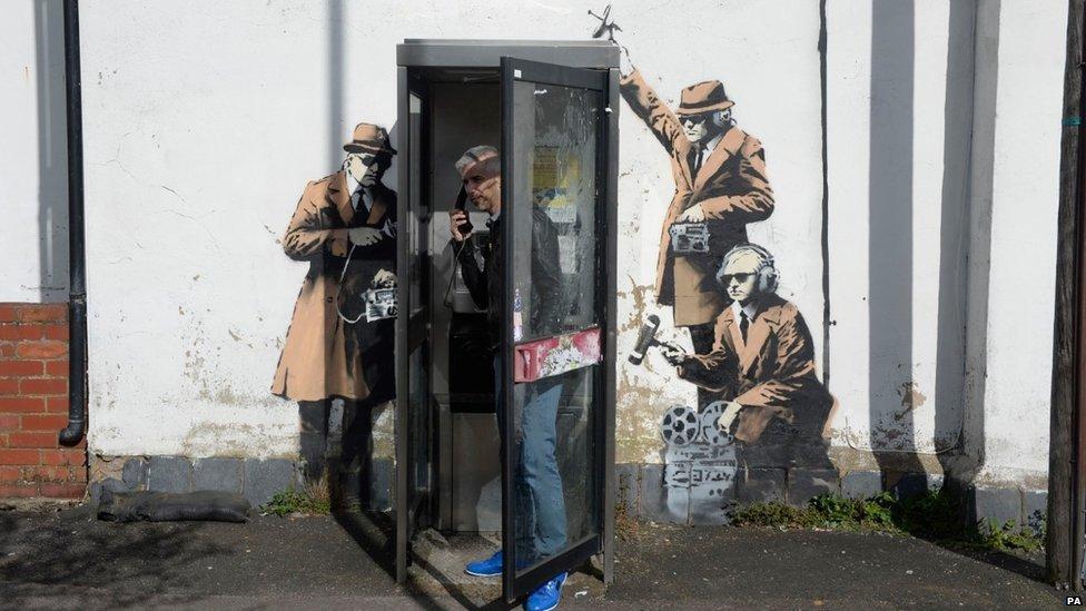 Banksy on GCHQ