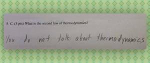 Joke about thermodynamics