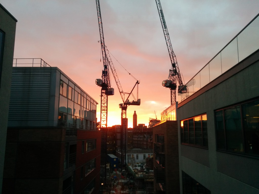 Cranes over Westminster