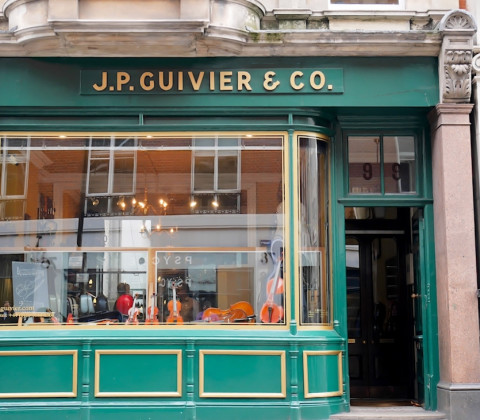 J.P. Guivier & Co shop front on Mortimer Street, London